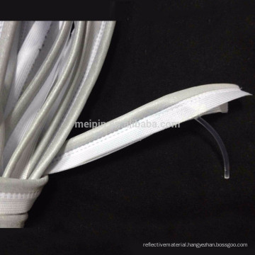 Sliver reflective piping with PVC core