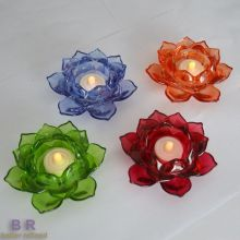 Supporto di candela decorativa colorata Lotus