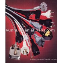 Cables de alimentación de Reino Unido y Euro conector CEE7/7