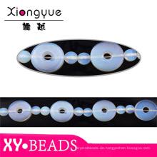 Blaue Rundloch Opal Perlen Halsketten TRS190