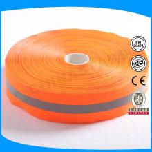 Laranja cinza cor laranja 1 polegada de nylon reflexivo cintas