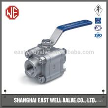 Metal seated floating ball valve