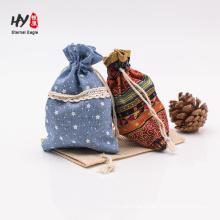beautiful comfortable linen drawstring pouch