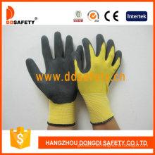 Nylon amarillo con guante de nitrilo negro-Dnn451