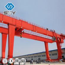 Grue de portique de construction de double poutre résistante 25 tonnes
