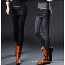 Fashion Womens High Waist Slim Stretch Skinny Lace Leggings Sr8216
