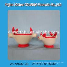 Новый дизайн керамического горшка для цветов в форме северного оленя