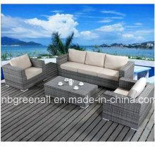 Алюминиевая рамка плетеной мебели Ротанг диван для сада (9059)