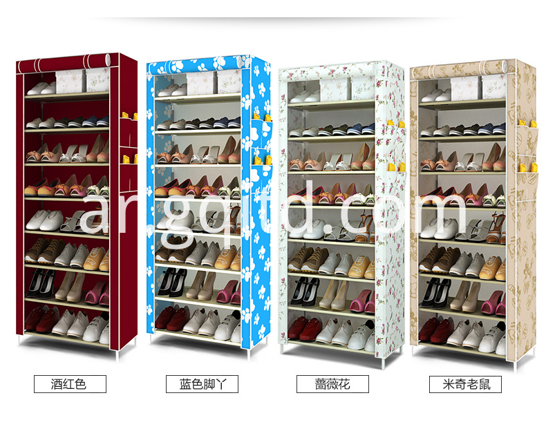 Fabric Shoe Cabinet