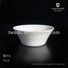 porcelana blanca palomitas tazones de fuente, tazón de fuente de cerámica de palomitas de maíz