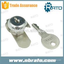 Serrure de verrouillage de caméra en acier inoxydable polie à clé RC-122