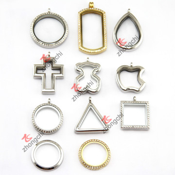 Assorted Stainless Steel Locket Pendant Necklace Jewelry (ZC-SS10-19)