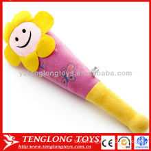Hot sale flower smile face toys soft plush massage sticks