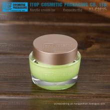 YJ-CM15 15g design simples pequeno 15g acrílico oval uv gel frasco