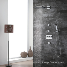 Pure Brass Chrome Bathroom Rain Shower Faucet