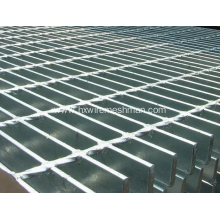 Galvanised metal grating walkway