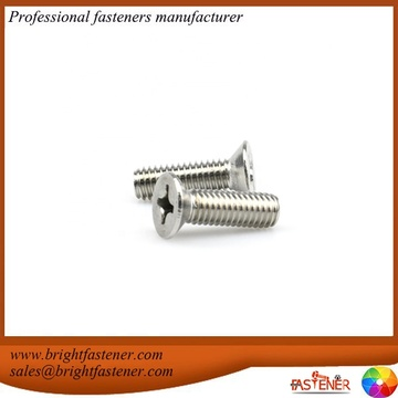 DIN965 Cross Recessed Countersunk Head Screws