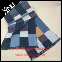 Grid Grau Gelb 100% Seide Gebürstet Schal Seide Tücher und Schals