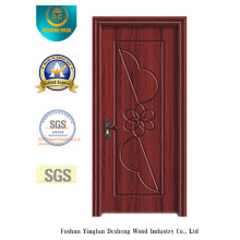 Simple Design MDF Door with Flower Carving for Room (xcl-821)