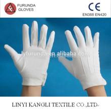 Gants uniformes, gants de défilé, gants en coton 100% blanc