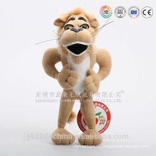 Juguetes de peluche mejor hechos juguetes de felpa rugiendo león con sonido