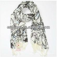 Graceful beautiful acrylic printing scarf
