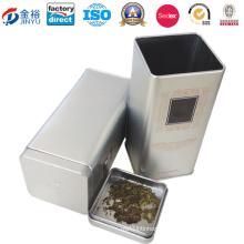 Airtight Lid Metal Caddy Box for Caddy Tea