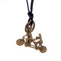 Bike Form Anhänger Frauen Leder Vintage Halskette