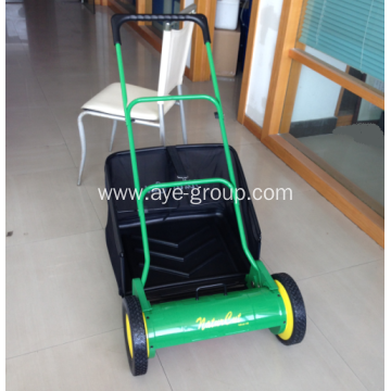 "16""Hand Push Reel Lawn Mower with Grass box"