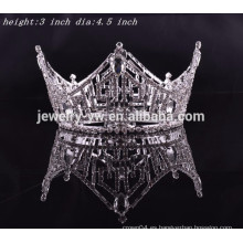 Accesorios del pelo del rey del partido cristales tiaras redondas llenas de la corona