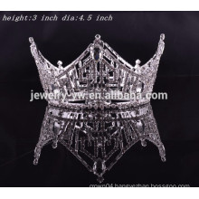 party king hair accessories crystal full round crown tiaras