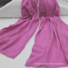 ventas de la fábrica pura bufanda de cachemir de Mongolia cachemira bufanda de punto estilo libre de bellas damas pura cachemira (aceptar por encargo)
