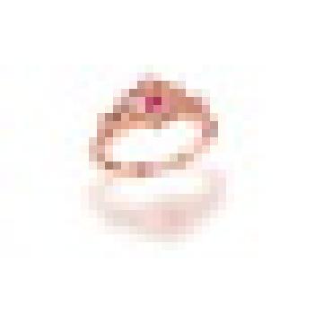 0.40CT Natural Turmalina Rosa Julius Caesar Oco Coroa Anéis de Prata Esterlina 925 para As Mulheres Engagement Jóias Finas