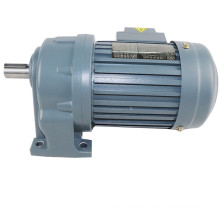 CH40-3700-3S 5hp 500rpm 59nm 40mm shaft Horizontal type 3phase 3:1 ratio 380V 3.7KW electric ac motor with gearbox reducer