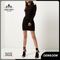 Damen Cold Shoulder Mode Pullover Kleid