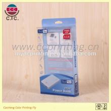 Batterie adaptée aux besoins du client de téléphone portable pliant la boîte d'emballage de PVC