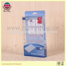 Customized mobile phone battery folding pvc packaging box