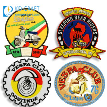 Wholesale custom reflective masonic brand embroidery badge biker club large woven embroidered motorcycle patch