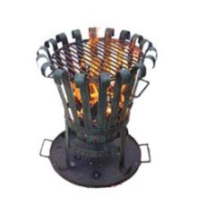 Acero Chiminea (FSL025) calentador de carbón de la puerta externa, cesta del fuego