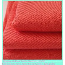 Красный жаккардовая ткань из вискозы саржевого переплетения для рубашек