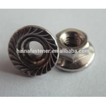 M16 Steel Hexagon Head Flange Nut