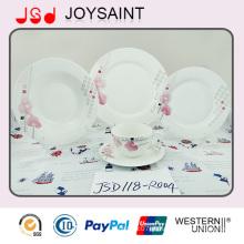 10 ′ ′ rodada mão pintada placa de jantar xícara de porcelana