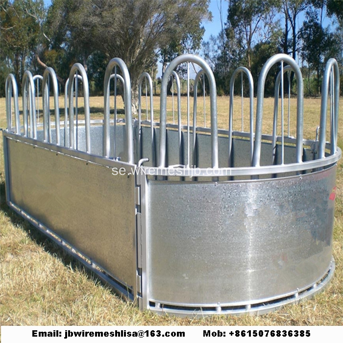 Hot Dipped Galvanized Cattle Hay Bal Feeder
