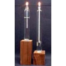 Suporte de vela de vidro colorido claro / castiçal
