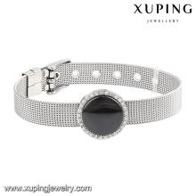 74602 Fashion Cool Ceramic Stainless Steel Jewelry Watch Bracelet