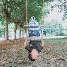 Outdoor Kinder Trapez-Schaukelstange mit Ringen