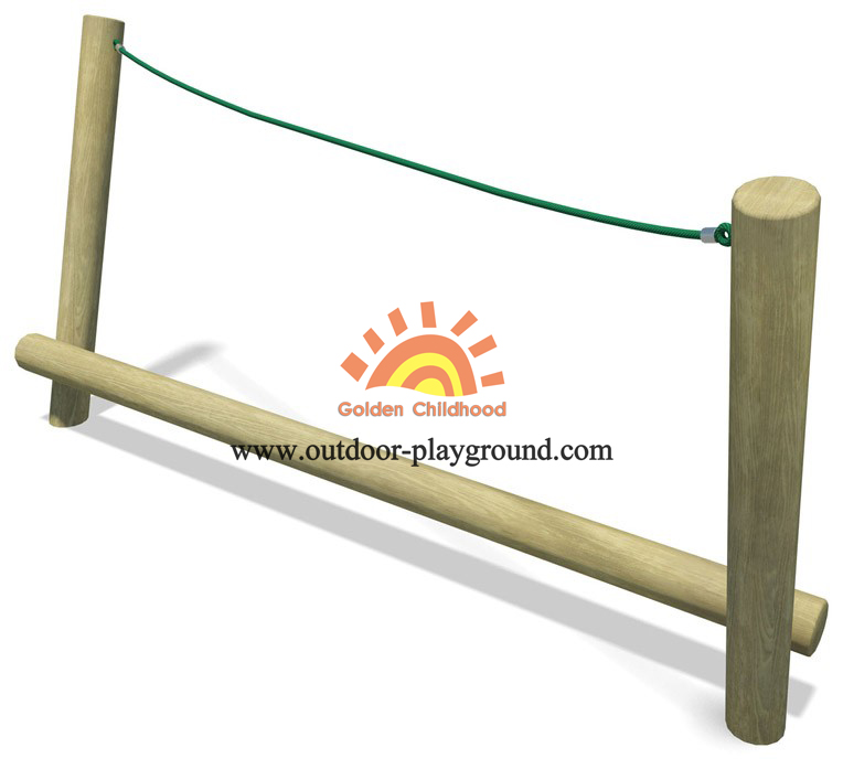 Rope Timber Balance Playground Equipment