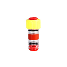 Customized gas/water microduct fitting 5mm gas block connector fiber optic