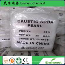 Fourniture d'usine SGS 99% Perles de soude caustique (hydroxyde de sodium)