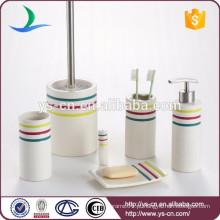 Essentials Coleção Simples 6-Piece Ceramic Bathroom Gift Set